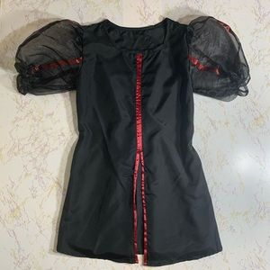 Custom Made Girls Black and Red Theatre Costume